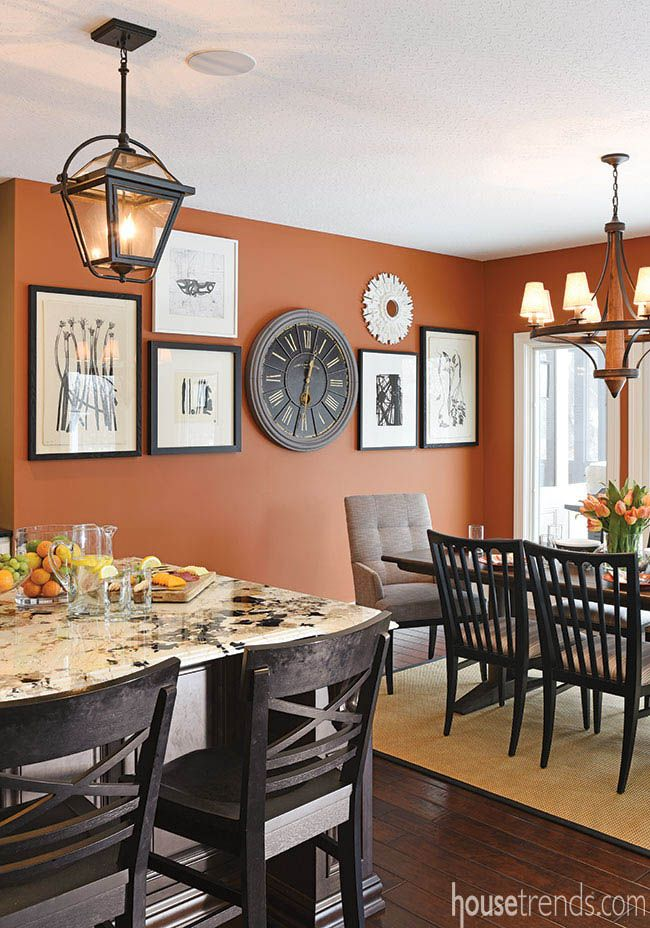Home Design Offers Comfort And Style Dining Room Wall Color Orange Kitchen Walls Kitchen Dining Room Combo