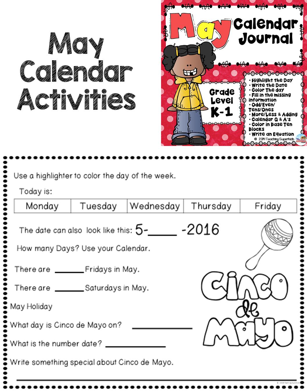 Math Meeting May Calendar Activities | Pinterest | Calendar ...