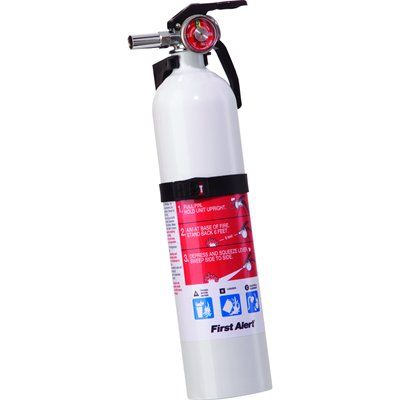 First Alert FE1A10GOWA Rechargable Multi Purpose Fire Extinguisher