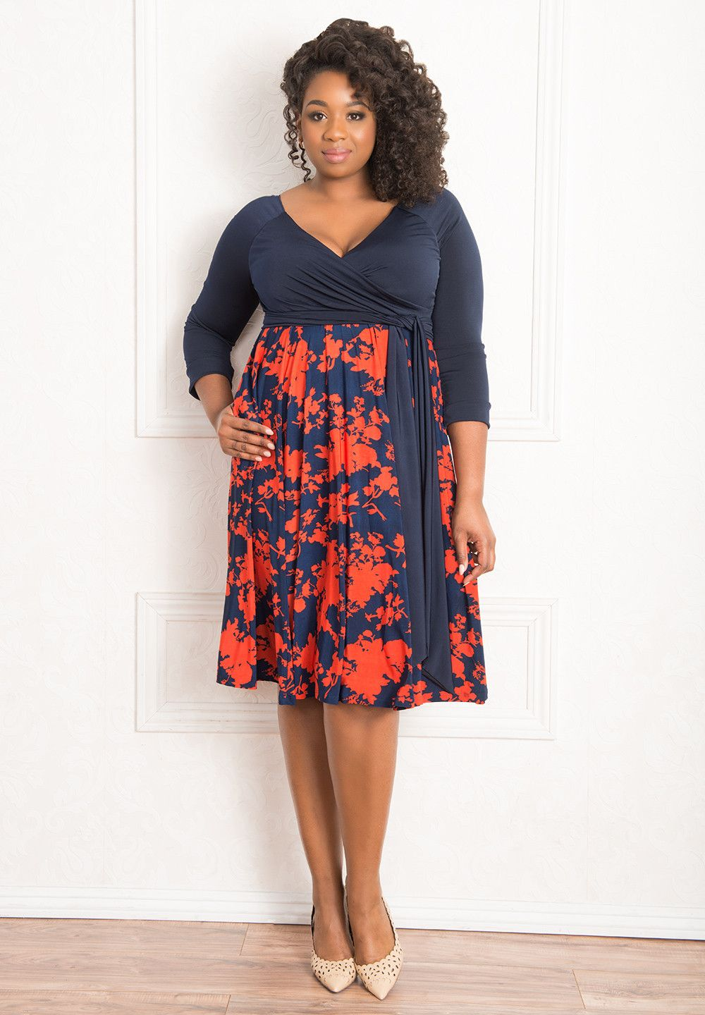 5475b31a865 bellissimadress blossom blue orange Plus Size Clothing Stores