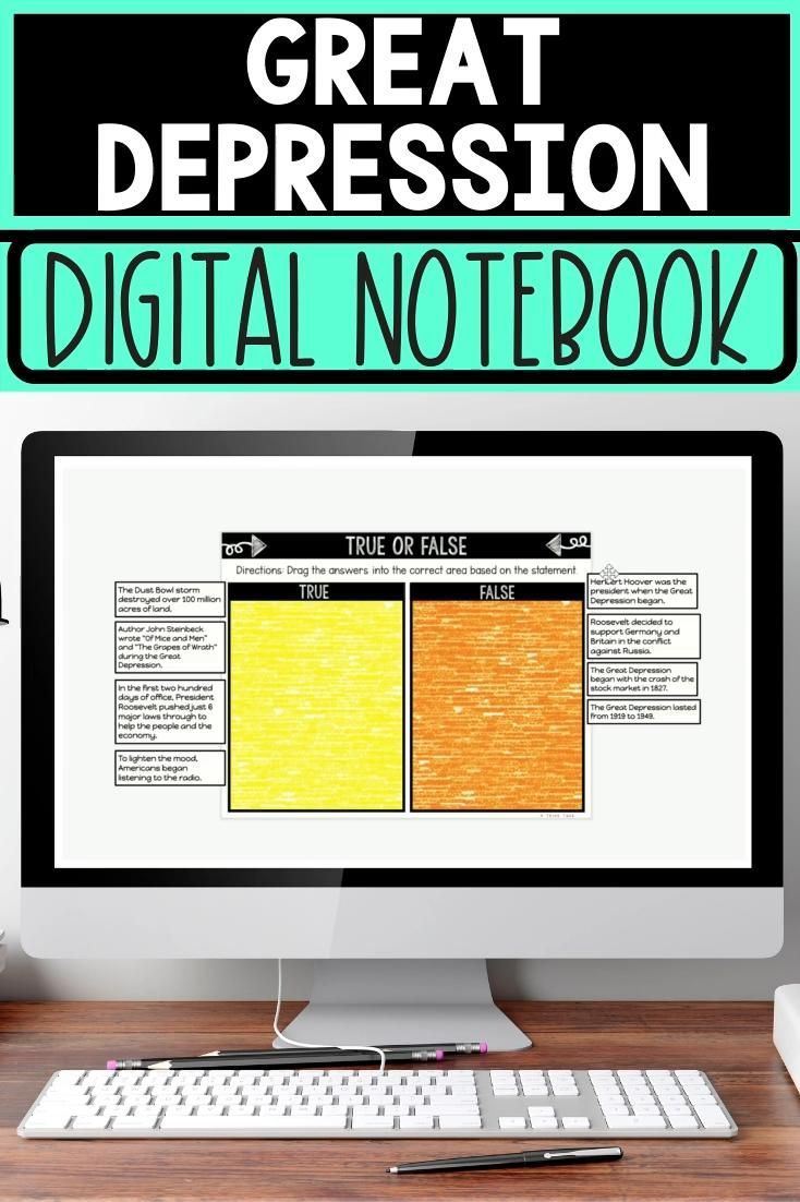 Photo of Great Depression DIGITAL Interactive Notebook | Choice Board | Dust Bowl | US History
