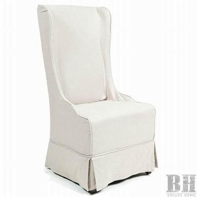 cb04392385b Bright Home Selway Beige Linen Skirted Upholstered Wingback Dining Chairs