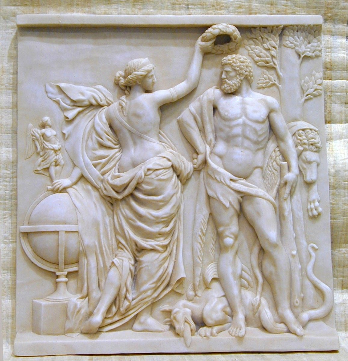 Relieve Renacentista Heracles (Hercules) 52x49cm - Decorar con Arte