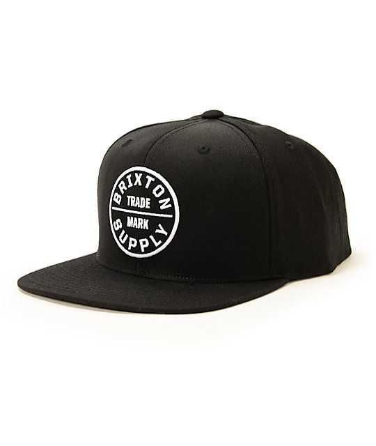 Men's Brixton Oath III Snapback Hat - Black