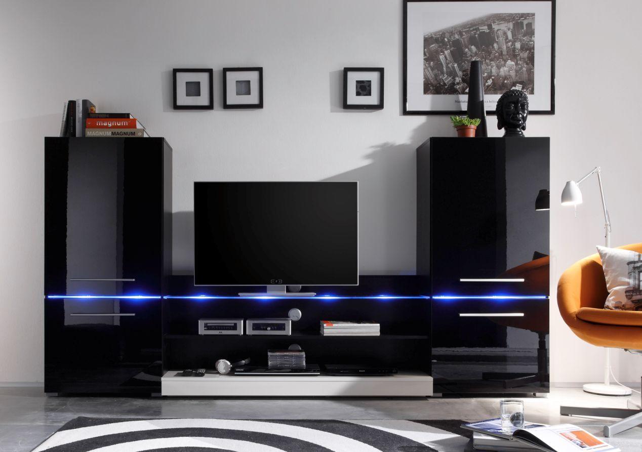 Genial Wohnwand Schwarz Gunstig Deutsche Living Room Flat