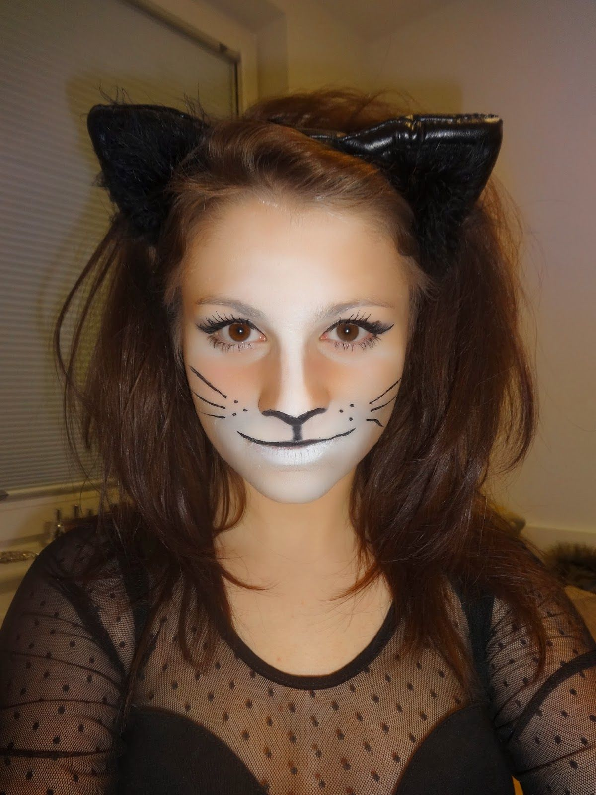Displaying 19> Images For Simple Cat Face Makeup
