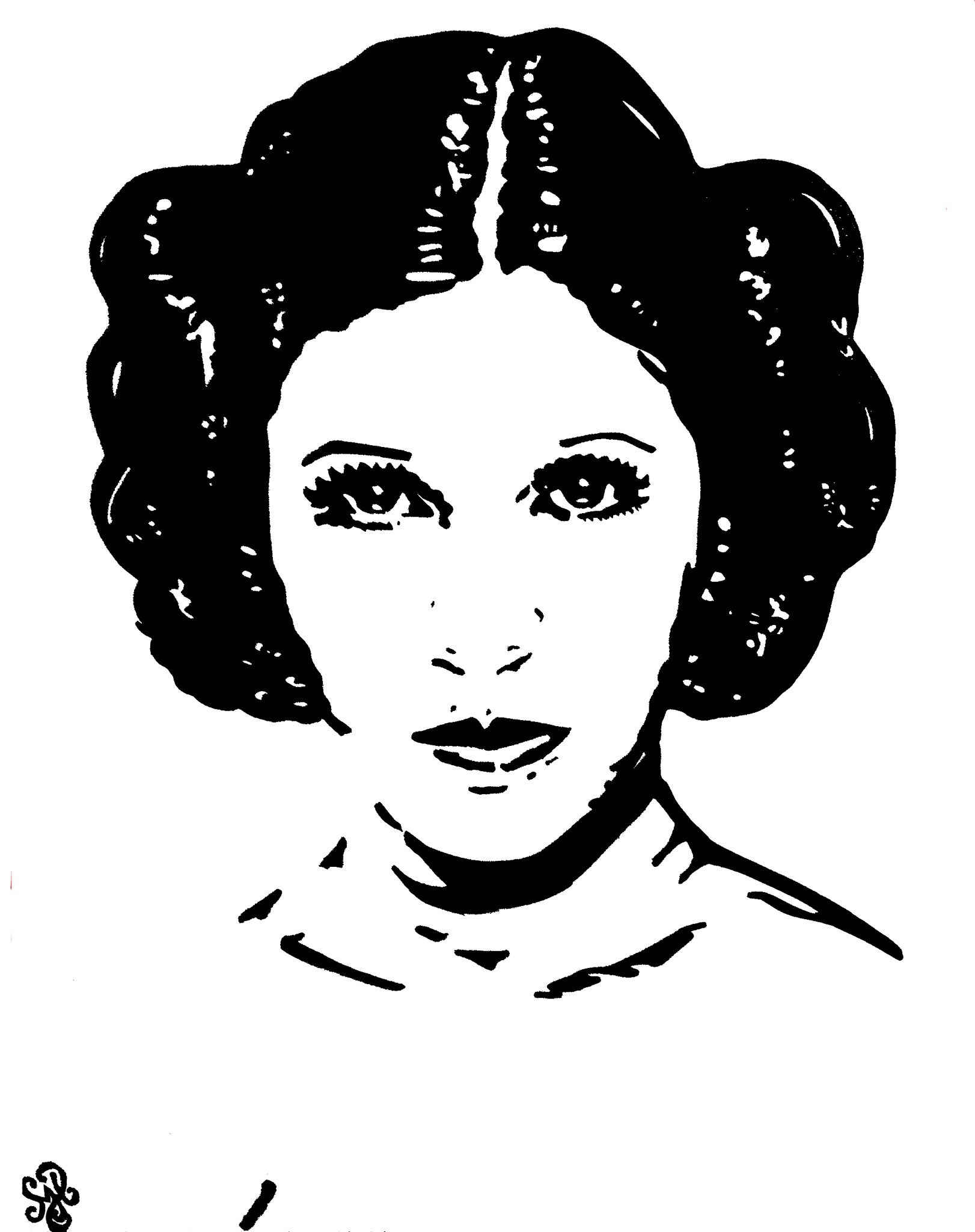 Princess Leia Carrie Fisher Painting By Shon Hudspeth Www