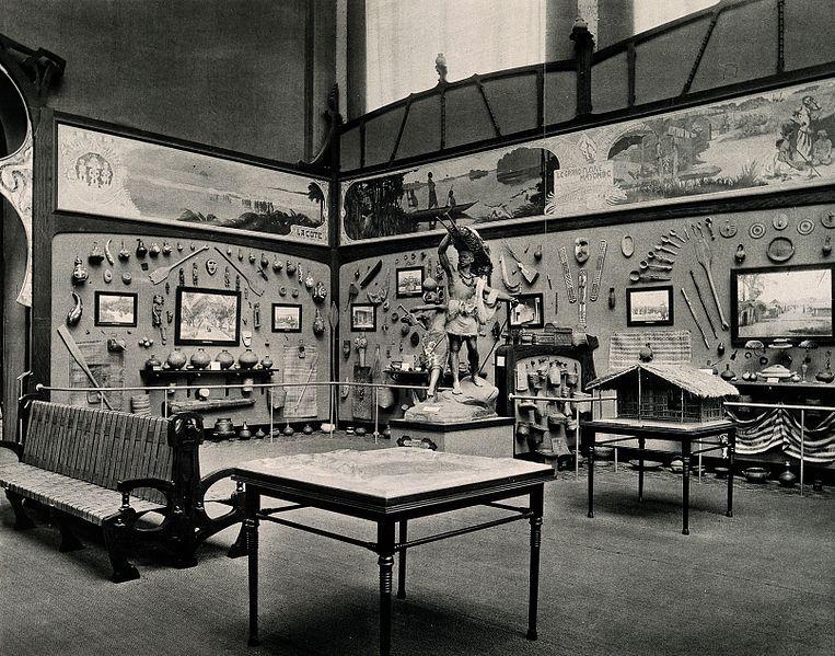 Musée du Congo, Tervuren, Belgium: one of five interior scenes. Prior 1910.  Wellcome Library, London