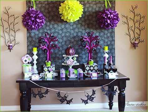 glam halloween purple lime green