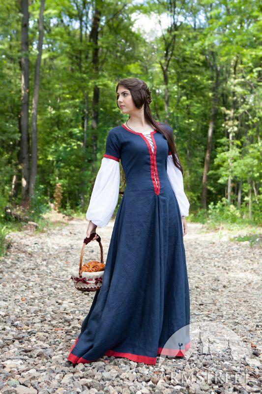 7cf05d2b6c2 Flax linen medieval dress