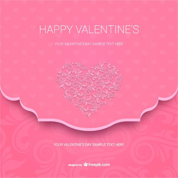 Happy Valentine S Day Card Template Vector Valentines Day Card Templates Happy Valentines Day Card Valentine Card Template