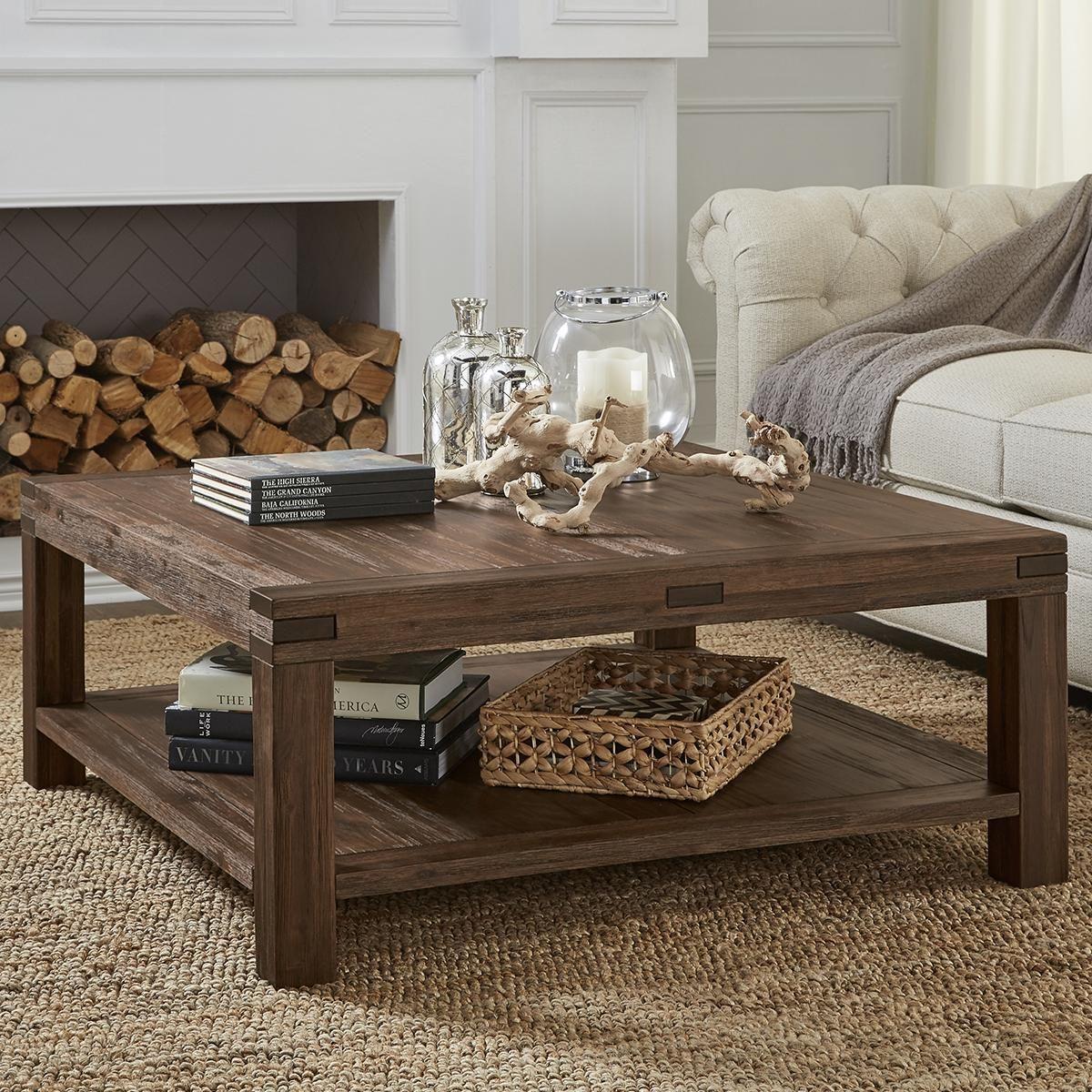 - Urban Home Meadow Coffee Table In Brick Brown Nebraska Furniture