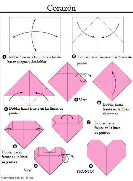Como Hacer Un Corazon De Origami Ideas Pinterest Origami - Origami-corazn