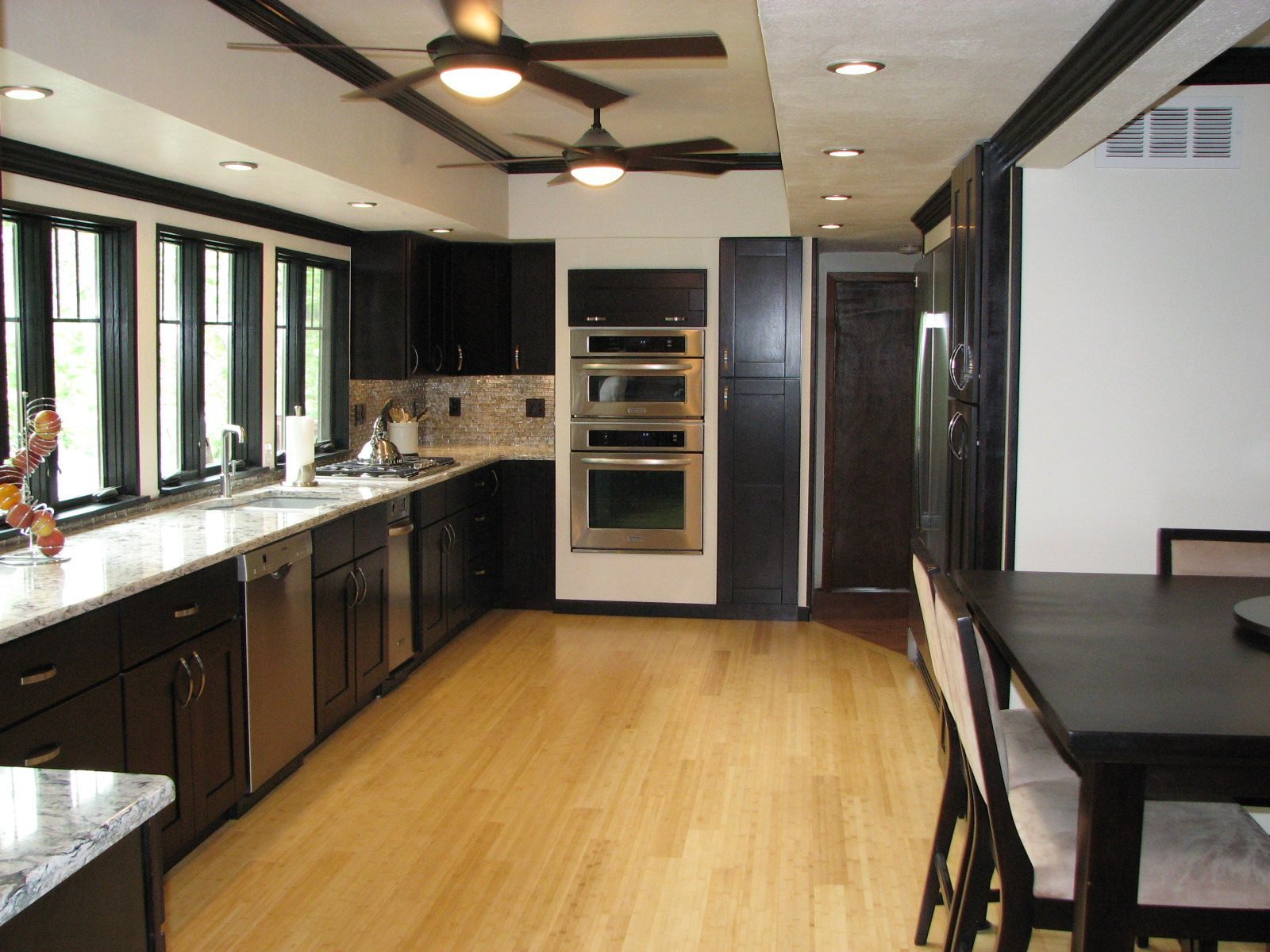 Galley Kitchen Remodel Dark Cabinets built in kitchen cabinets plans | house remodeling ideas