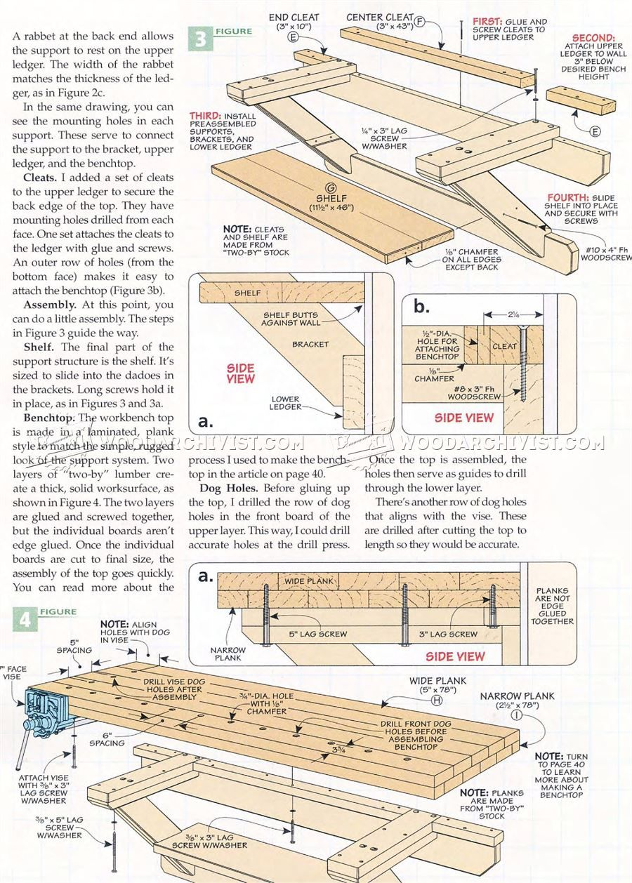 #2118 Wall Mounted Workbench Plans - Workshop Solutions ...