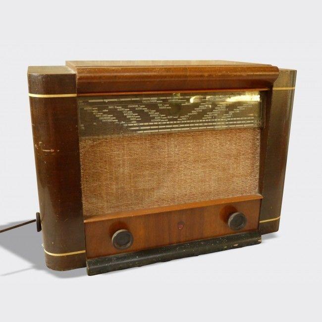 Poste radio ancien TSF années 40 Philips BF570A retro radios