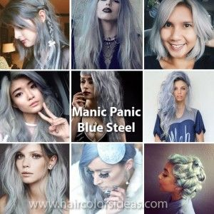 Manic Panic Blue Steel Hair Dye
