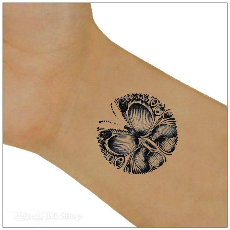 Butterfly Temporary Tattoo 2 Butterfly Wrist Tattoos Body Art by UnrealInkShop on Etsy https://www.etsy.com/listing/196603872/butterfly-temporary-tattoo-2-butterfly