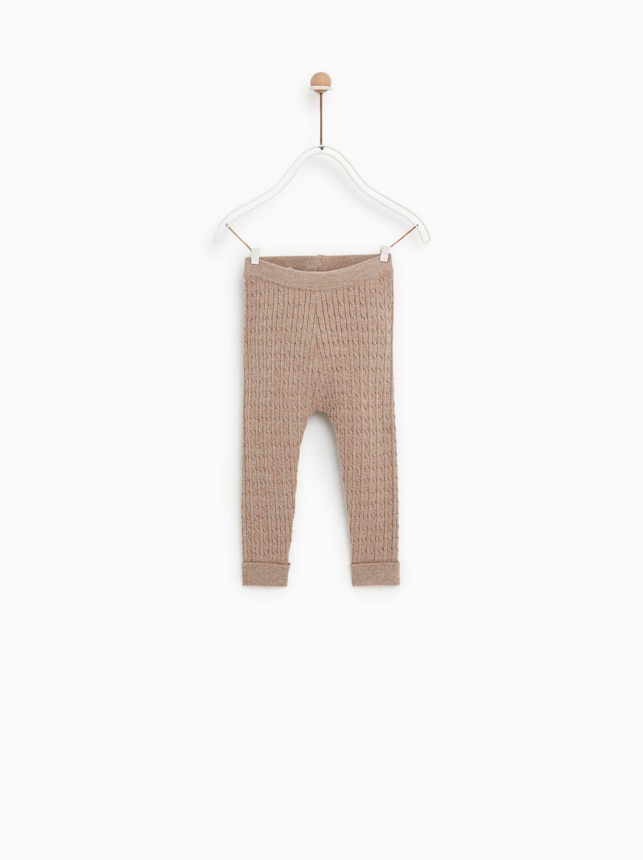 Zara Kids Cable Knit Leggings Girls Winter Fashion Baby Girl Fashion Baby Leggings