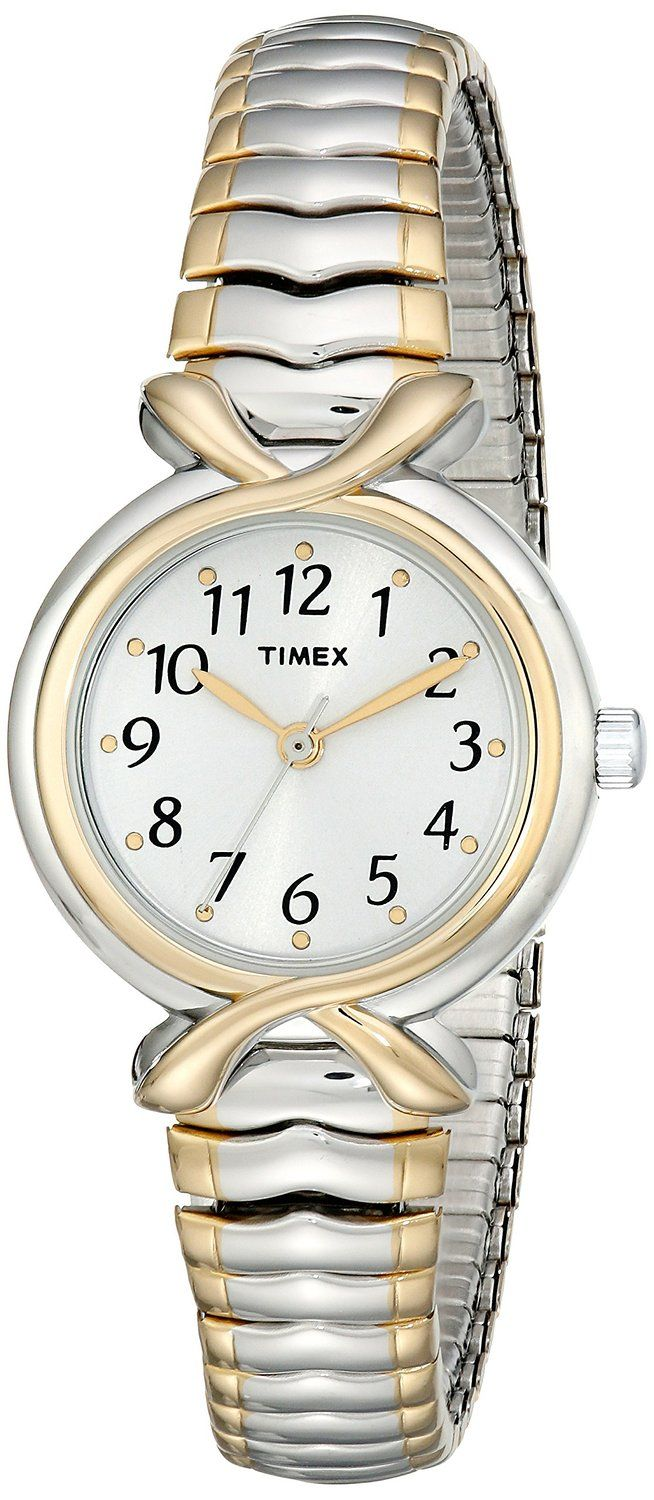 Timex Women's T21854 Elevated Classics Two-Tone Expansion-Band Watch * Read more reviews of the watch by visiting the link on the image.