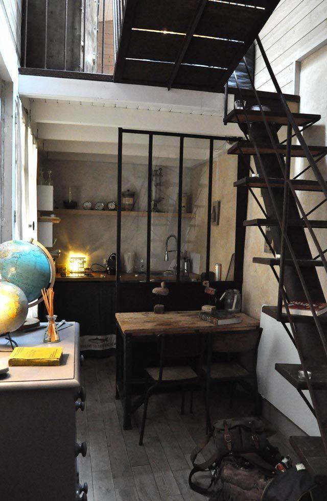 Industrial chic soppalco nel 2019 appartamenti piccoli for Interni di appartamenti