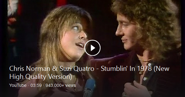 Stumblin In Suzi Quatro And Chris Norman Bing Video Norman Songs