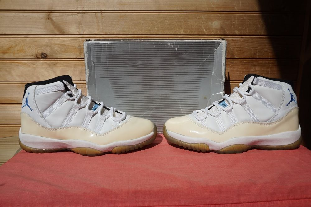 factory price 8ba05 72b48 2000 Nike Air Jordan 11 Retro White Columbia Blue Black Sz 10 (4784) 136046- 142 (eBay Link)