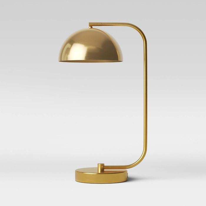 Valencia Led Task Lamp Brass Includes Energy Efficient Light Bulb Project 62 In 2020 Task Lamps Energy Efficient Light Bulbs Brass Desk Lamp