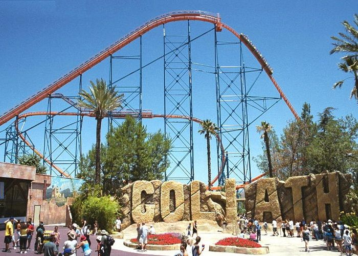Top Ten Fastest And Craziest Roller Coasters Gazette Review Crazy Roller Coaster Goliath Roller Coaster Roller Coaster