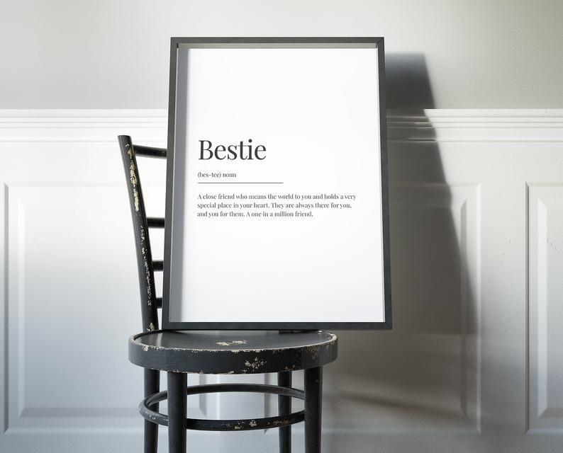 best friend gift best friend definition friend personalised print