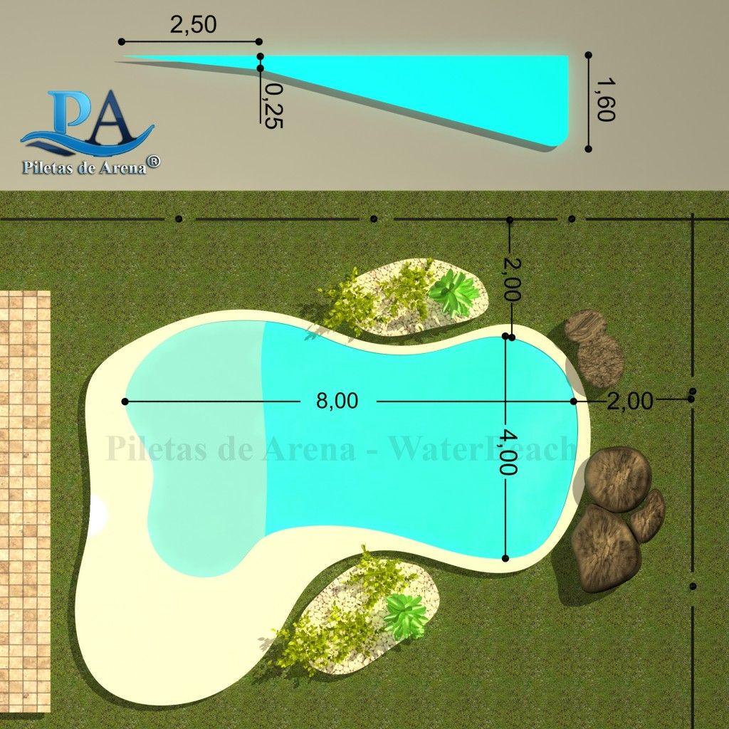 Fotograf as de piscinas de arena piletas de arena la - Piscinas tipo playa ...