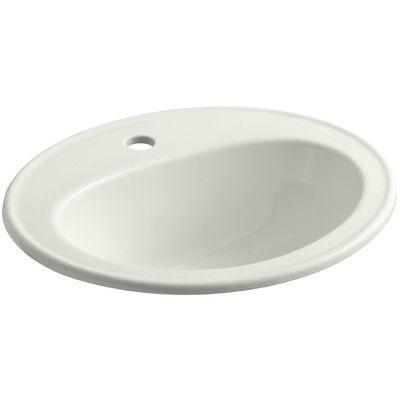 Kohler Pennington Ceramic Oval Drop In Bathroom Sink With Overflow