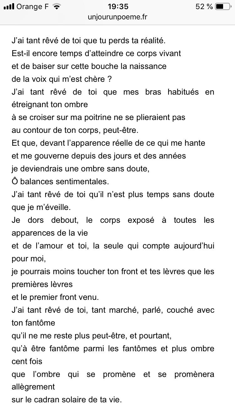 J'ai Tant Reve De Toi : Robert, Desnos, Rêvé, Reve,, Poeme,, Citation