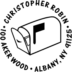Return Address Stamps - For more Customized Address Stamps go to BBRubberStamp.com
