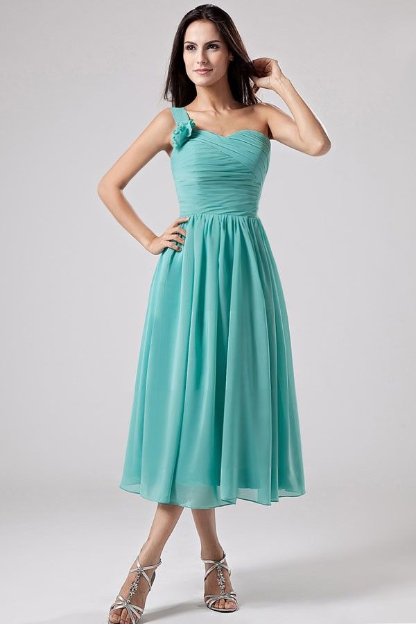 New wedding dresses for young: Short jade bridesmaid dresses
