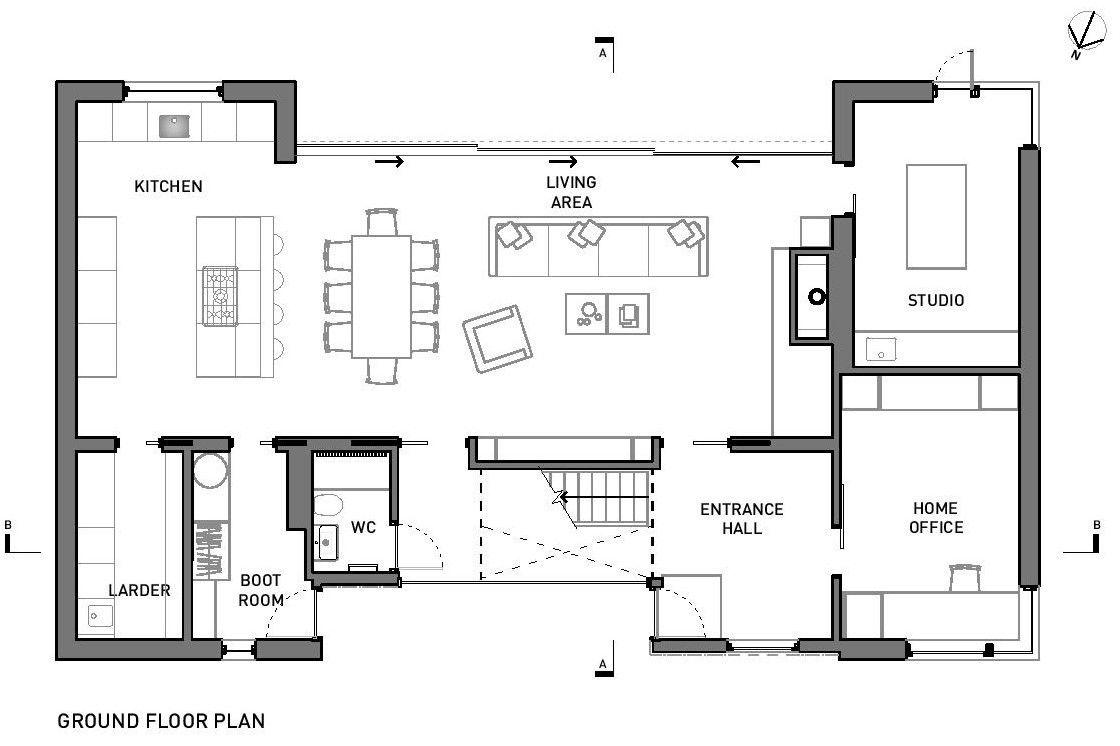 Gallery of broad street house in suffolk nash baker Basic room planner