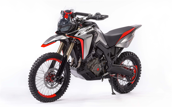 Download Wallpapers Honda CRF1000L, Africa Twin Enduro