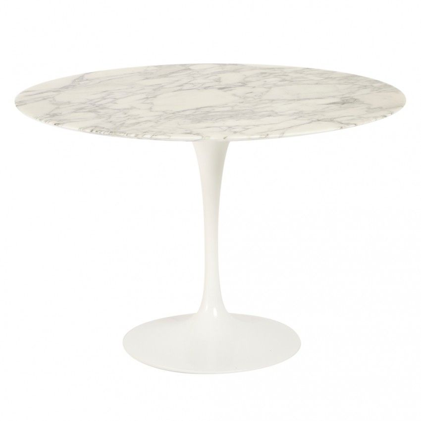 Table Ronde Marbre Arabescato D 107 Cm Knoll Table Saarinen Table Tulipe Knoll Table Marbre