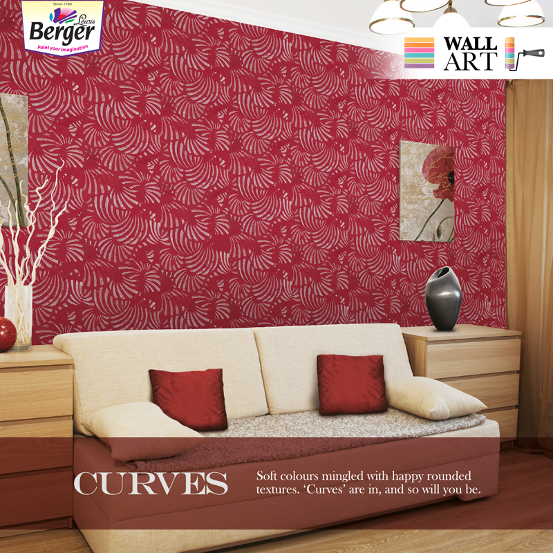 Lend Some Happy Textures To Your Walls We Recommend Curves As The Shape To Opt For Blend Them With Soft To Painting Textured Walls Textured Walls Wall Design