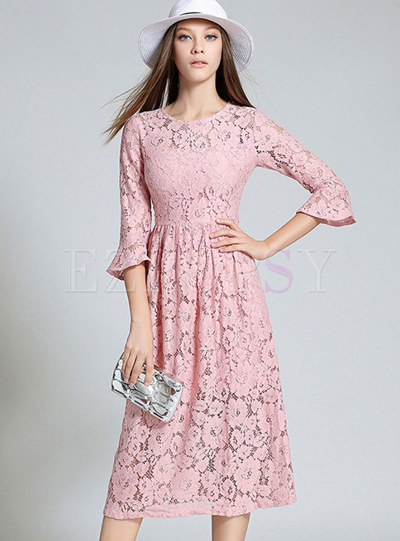 c75a19c8434 Shop for high quality Sexy Hollow Slim Lace Maxi Dress online at cheap  prices and discover fashion at Ezpopsy.com