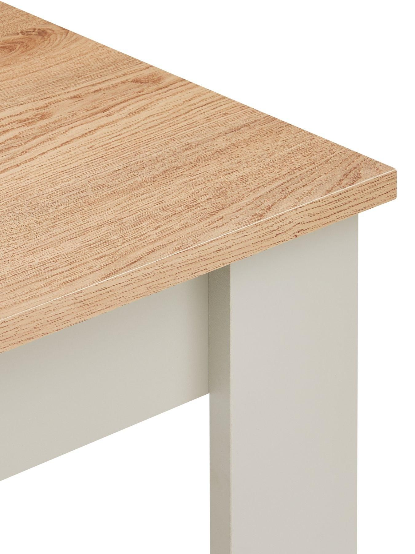 Cornwall 120 Cm Dining Table And 2 Benches Effect Grey Oak