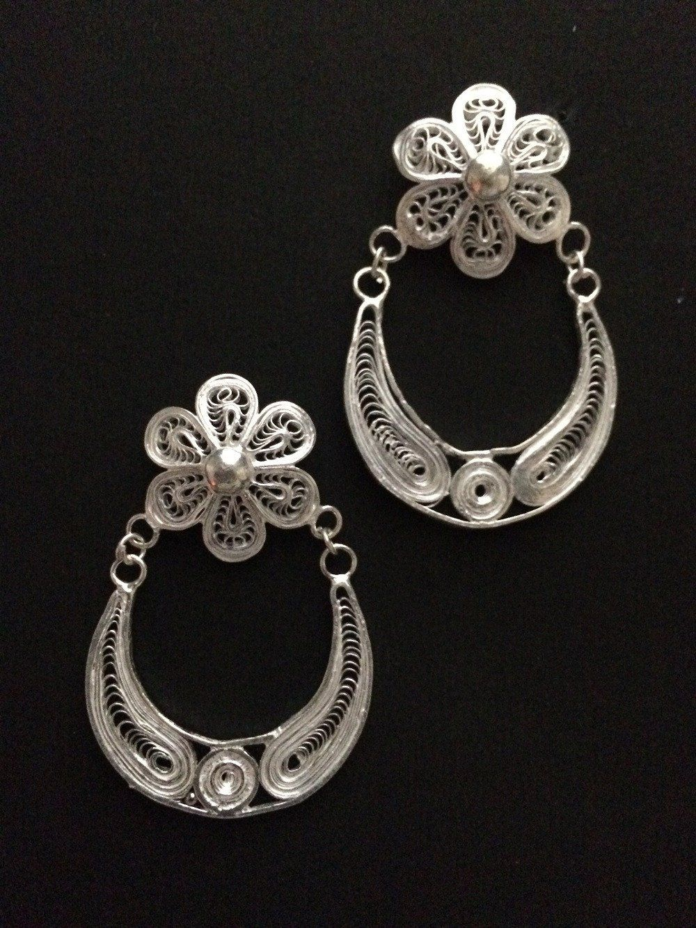 c1573909ecc7c Silver Chandbali | cheezein | Filigree earrings, Silver earrings ...