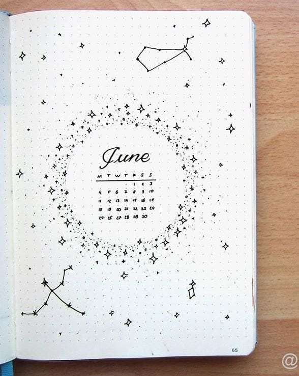 30+ Magical Astrology & Zodiac Inspired Bujo Ideas | Jihi Elephant #journaling