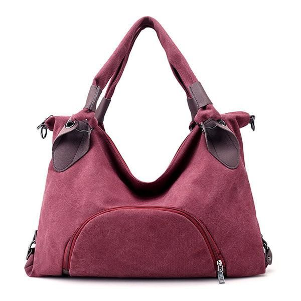 Canvas Women Tote Bag Patchwork Handbag Crossbody