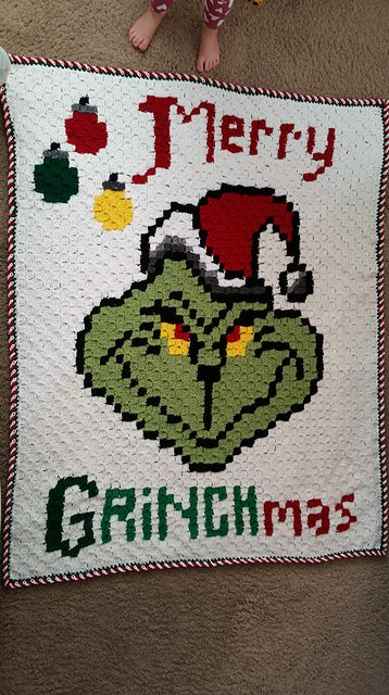 Ravelry: Merry Grinchmas Graphgan pattern by Aimee Hardy | Christmas ...
