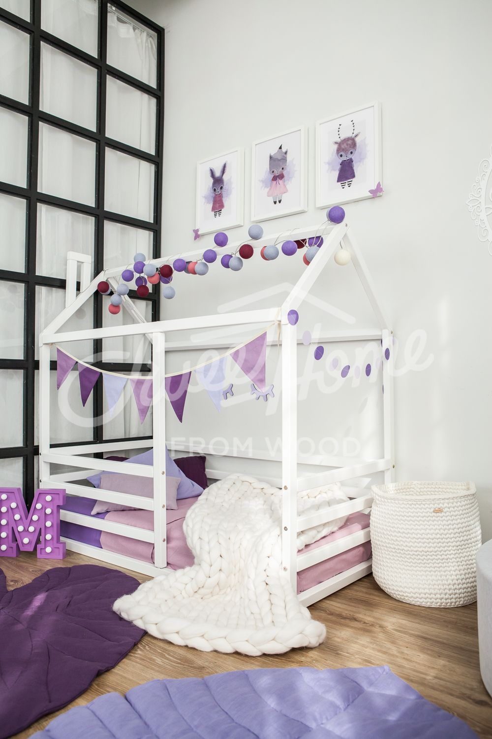 Toddler Bed Kids Teepee Diy Playhouse Frame Bed Or Montessori Bed