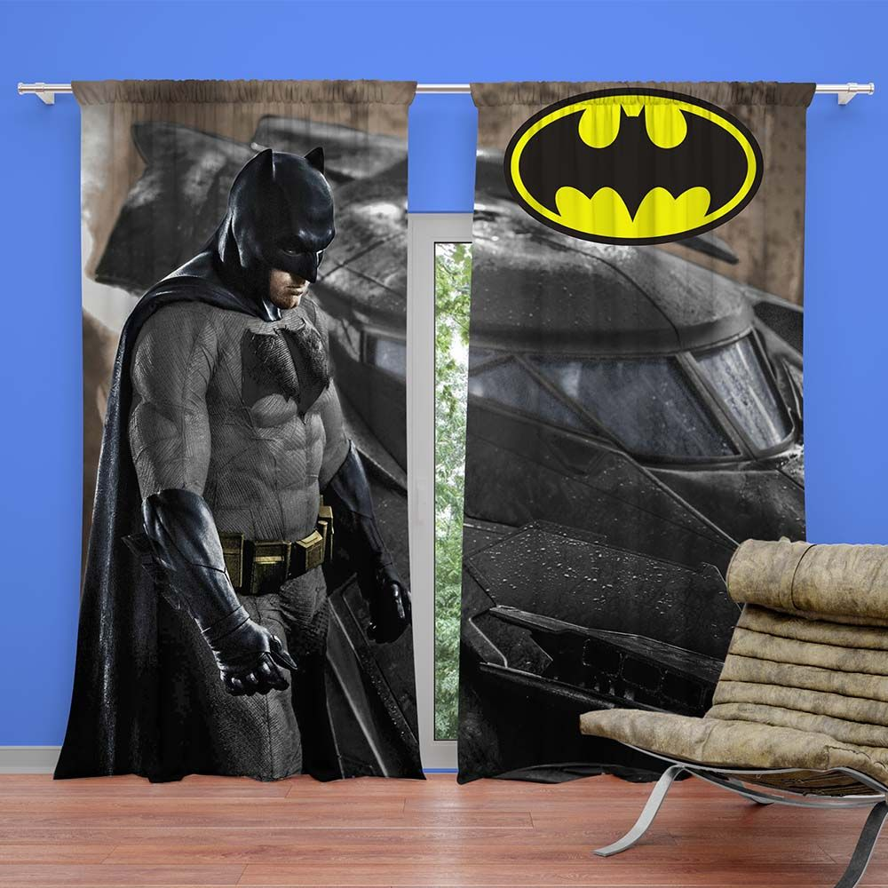 Super Hero Batman Movie Kids Curtain Super Heroes Bedding