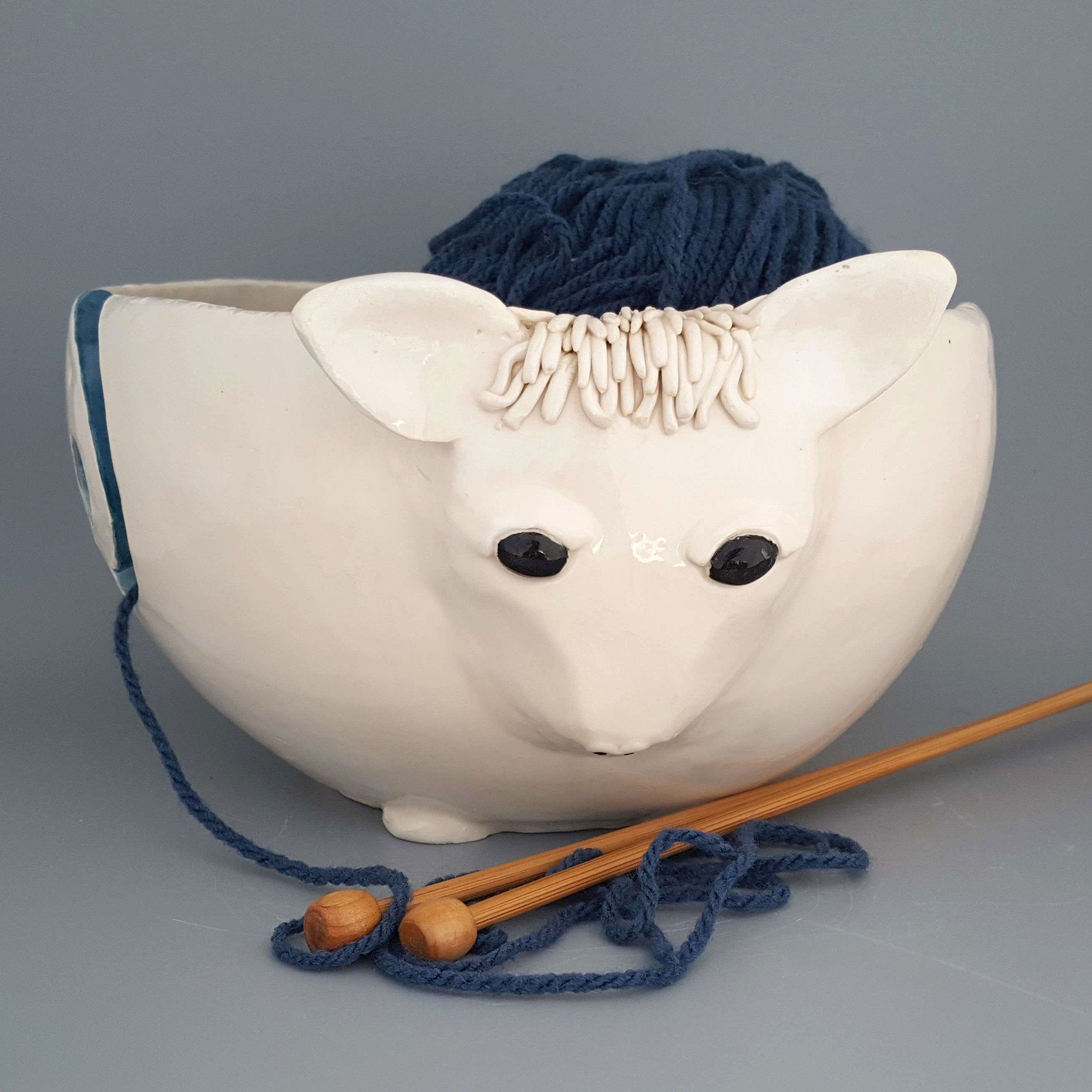 Sheep shaped knitting bowl, crochet bowl, yarn bowl #crochetbowl