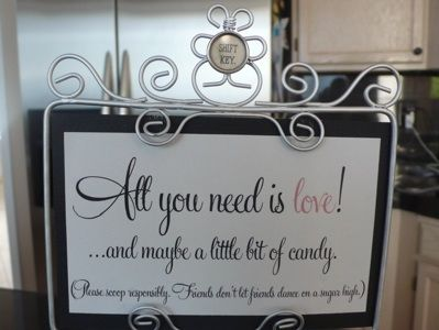 candy bar sign | Wedding, Weddings and Wedding stuff