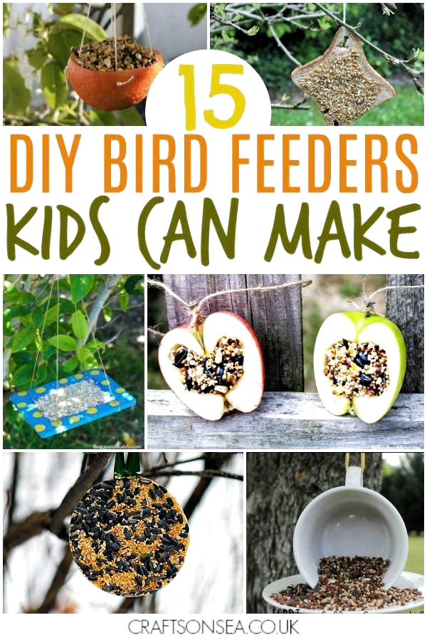 easy bird feeders for kids to make #kidsactivities #kidscraft #craftsforkids #nature #artsandcrafts